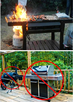 safety cooking outdoors