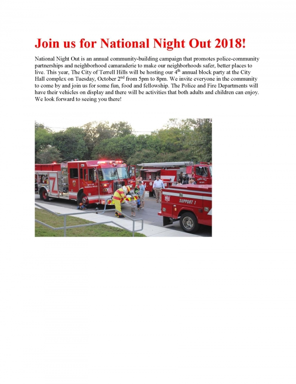 National Night Out 2018!